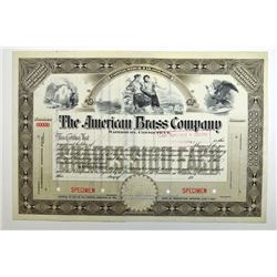 American Brass Co., ca.1900-1920 Specimen Bond
