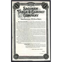 Saginaw Table & Cabinet Co., 1910 Specimen Bond Used as a Reference Model.