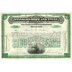 Standard Rope and Twine Co., 1901 Issued Stock Certificate