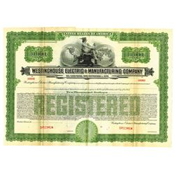 Westinghouse Electric & Manufacturing Co., ca.1920-1930 Specimen Bond