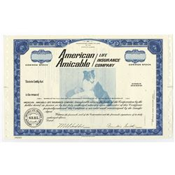 American Amicable Life Insurance Co., ca.1960-1970 Specimen Stock Certificate