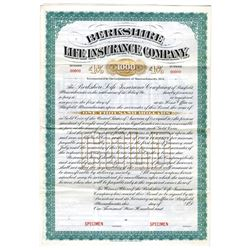Berkshire Life Insurance Co., ca.1900-1920 Specimen Bond