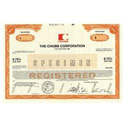 Chubb Corp., 1989 Specimen Bond