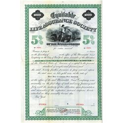 Equitable Life Assurance Society, ca.1920-1930 Specimen Bond