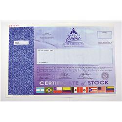 America Online, Latina America, Inc. 2000, Specimen Stock