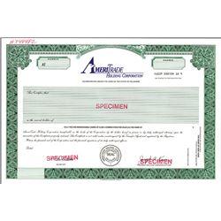 Ameritrade Holding Corp., Specimen Stock Certificate.
