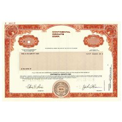 Continental Circuits Corp., 1988 Specimen Stock Certificate