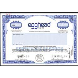 Egghead.com, Inc., Specimen Stock Certificate.