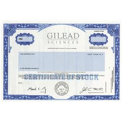 Gilead Sciences, Inc., ca.1990-200 Specimen Stock Certificate