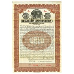 De Bardeleben Coal Corp., 1928 Specimen Bond