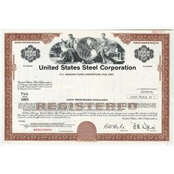 United States Steel Corp., ca.1980-1990 Specimen Stock Certificate