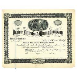 Prairie Belle Gold Mining Co., ca.1900-1910 Specimen Stock Certificate