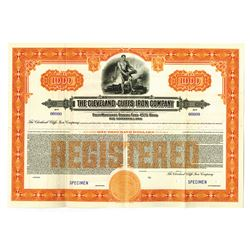 Cleveland-Cliffs Iron Co. 1937 Specimen Bond.