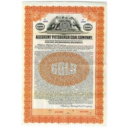 Allegheny Pittsburgh Coal Co., 1921 Specimen Bond