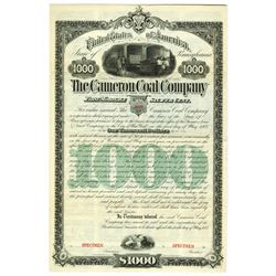 Cameron Coal Co., 1883 Specimen Bond