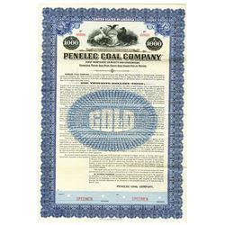 Penelec Coal Co., 1918 Specimen Bond