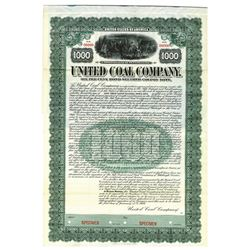 Union Coal and Coke Co., 1916 Specimen Bond