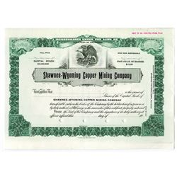 Shawnee-Wyoming Copper Mining Co., ca.1930-1940 Specimen Stock Certificate