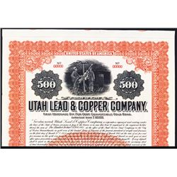 Utah & Copper Co. 1913 Specimen Bond.