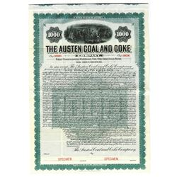Austen Coal and Coke Co., 1906 Specimen Bond