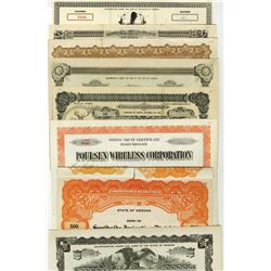 Arizona Related Bond Certificates, Lot of 15 Stocks ca.1900-1920's.