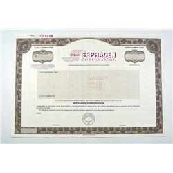 Sepragen Corp. 1995 Specimen Stock Certificate.