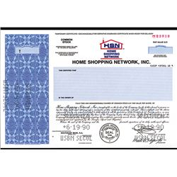 Home Shopping Network, Inc., 1990 Specimen Stock Certificate.