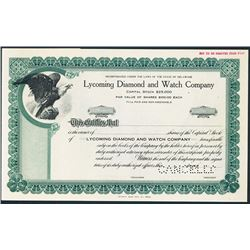 Lycoming Diamond and Watch Co., ND ca.1910-1930, Specimen Bond.