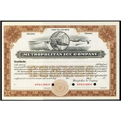 Metropolitan Ice Co., 19xx, ca. 1900-1920, Specimen Stock Certificate.