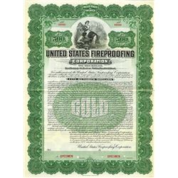 United States Fireproofing Corp., 1902 Specimen Bond