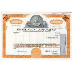 Franklin Mint Corp., 1975 Specimen Stock Certificate