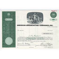 American Broadcasting Co., Inc., 1983 Specimen Stock Certificate