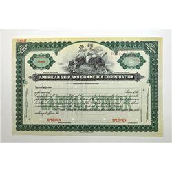 American Ship & Commerce Corp., ca. 1910-30.