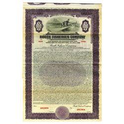 Booth Fisheries Co., 1926 Specimen Bond, Alaska, Canada & Great Lakes Fishing Company.