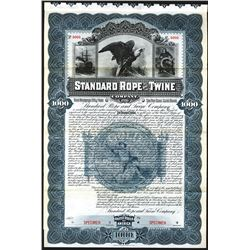 Standard Rope and Twine Co., 1896 Specimen Bond.