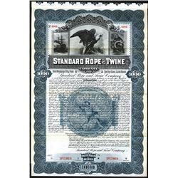 Standard Rope and Twine Co., 1896 Specimen Bond.