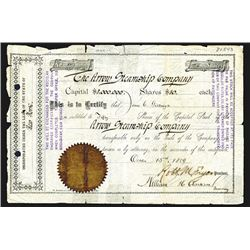 Arrow Steamship Co., 1889 Stock Certificate.