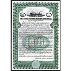 Swiftsure Oil Transport, Inc. 1920 Specimen Bond.