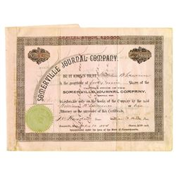 Somerville Journal Co., 1894 Issued Stock Certificate