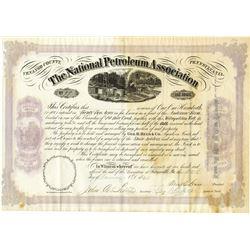 National Petroleum Association, 1866 Stock Certificate.