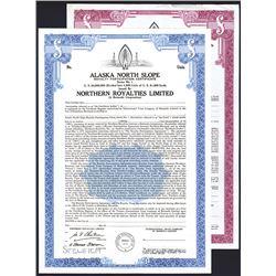 Alaska North Slope Royalty Participation Certificate, 1975 Specimen Bond.
