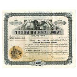 Petroleum Development Co., 1912 Issued Stock Certificate