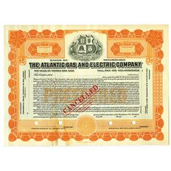 Atlantic Gas and Electric Co., ca.1920-1930 Specimen Stock Certificate