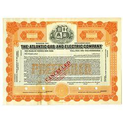 Atlantic Gas and Electric Co., ca.1920-1930 Specimen Stock Certificate