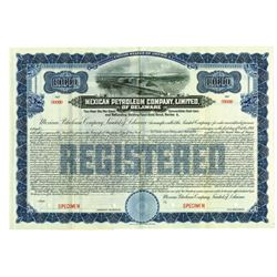Mexican Petroleum Co. Ltd. Of Delaware, ca.1930-1940 Specimen Bond