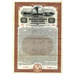 Pan American Petroleum & Transport Co., 1920 Specimen Bond