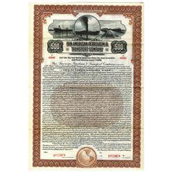 Pan American Petroleum & Transport Co., 1920 Specimen Bond