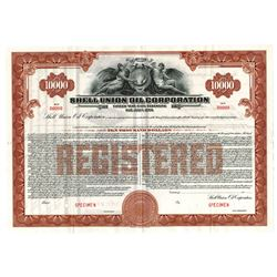 Shell Union Oil Corp., ca.1939 Specimen Bond
