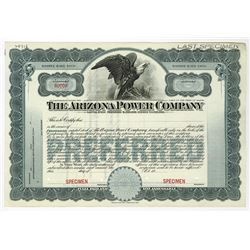 Arizona Power Co., ca.1950-1960 Specimen Stock Certificate
