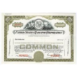 United States Radiator Corp., ca.1950-1960 Specimen Stock Certificate
